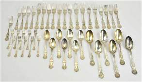 43 Pc Sterling Silver Flatware Set by JE Caldwell