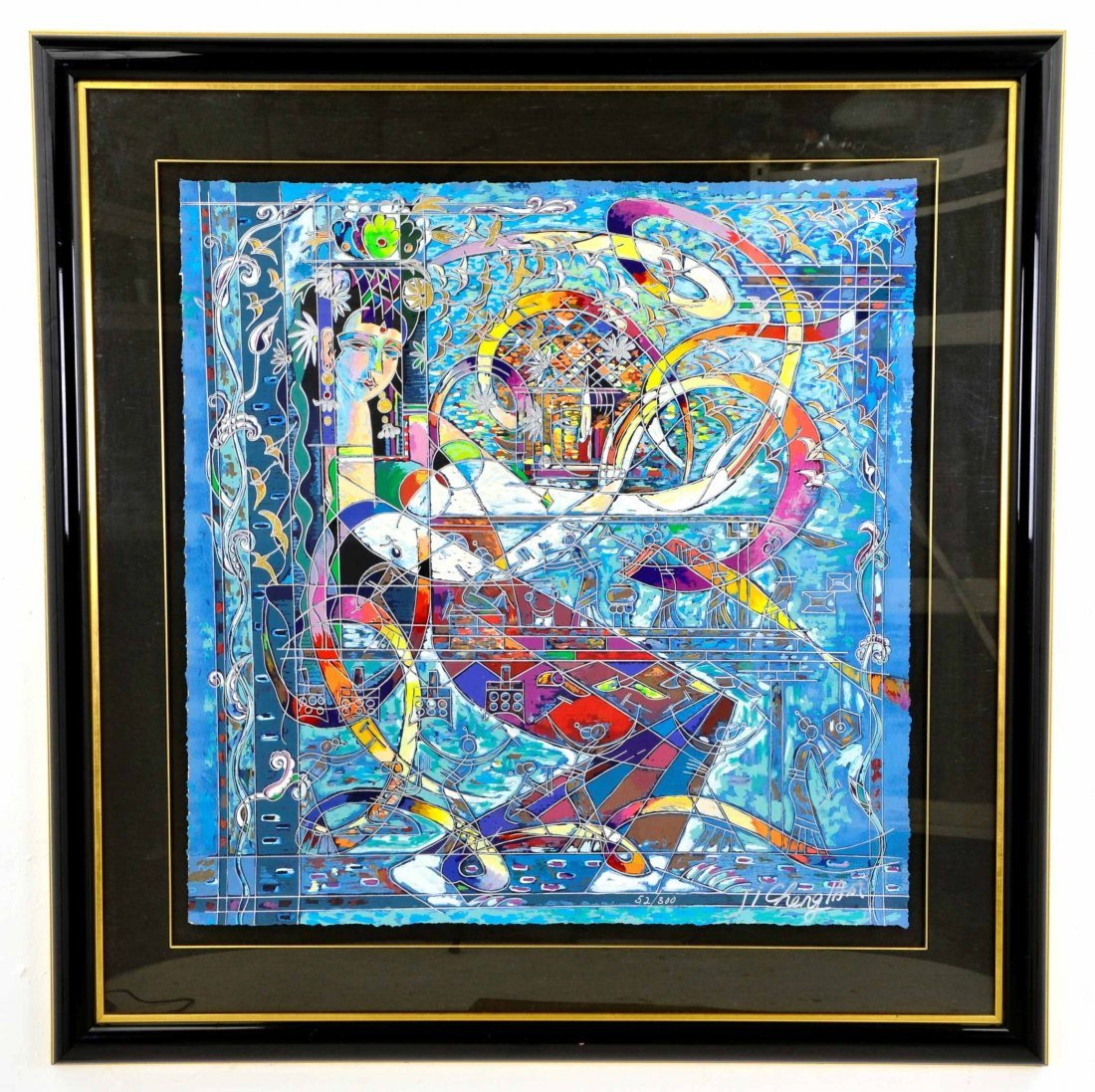 Listed Artist, Ji Cheng, Serigraph #52/300