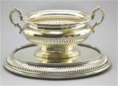 Silver Plate Elkington  Co Soup Tureen  Pedestal Tray