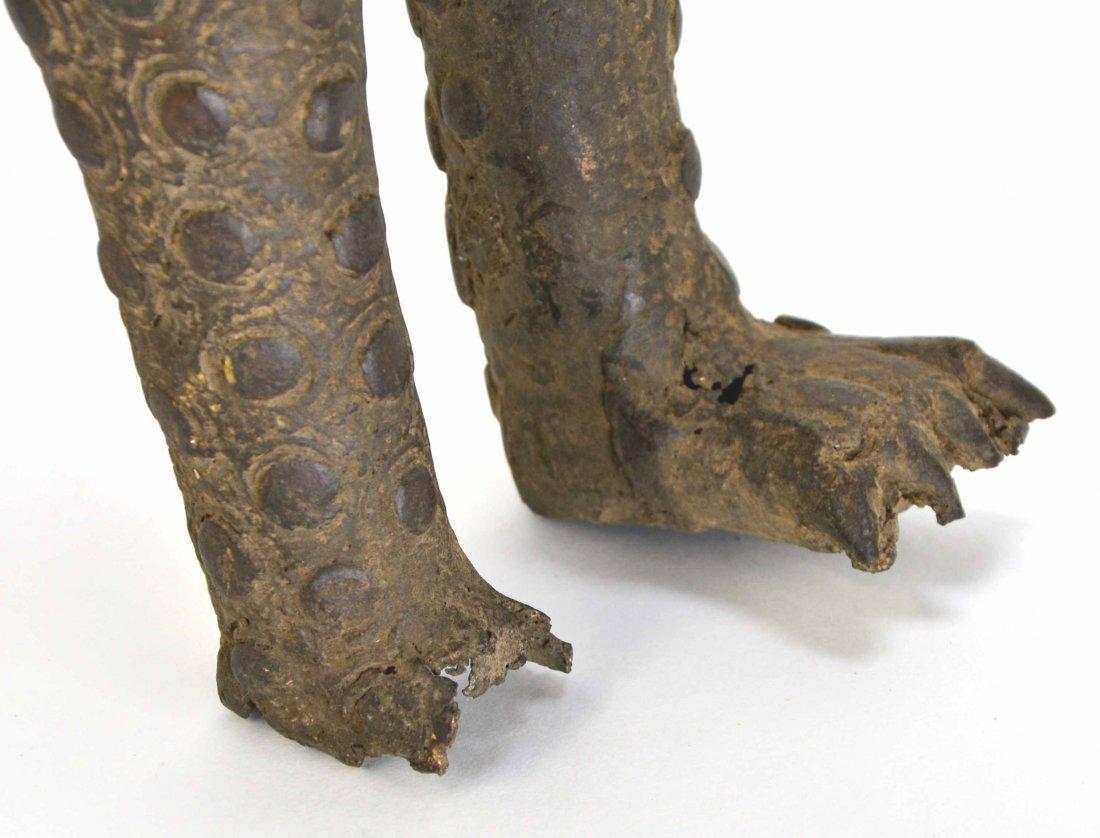 African Leopard Benin Tribal Metal Cat Sculpture - 6