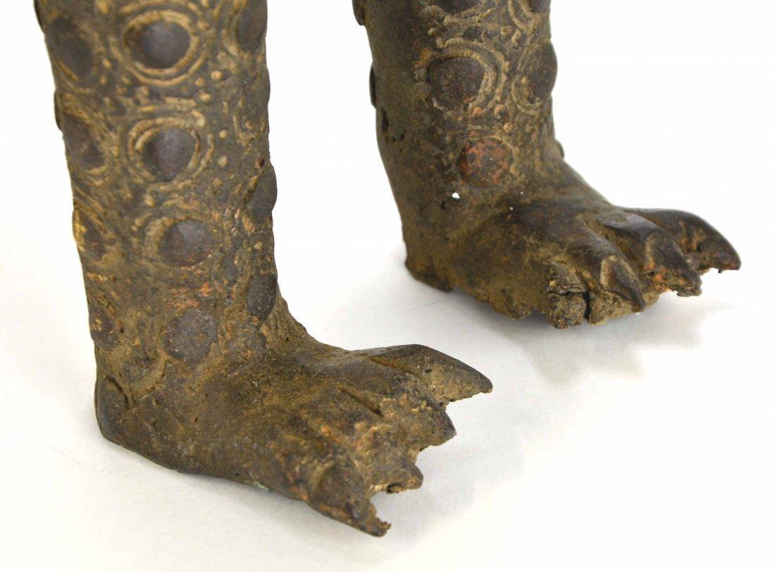 African Leopard Benin Tribal Metal Cat Sculpture - 7