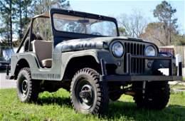 "RARE 1955 Jeep Willys CJ5 Military Vehicle, ""Milli"""