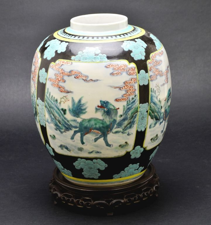 19th Cent. Chinese Famille Verte Porcelain Jar or Vase