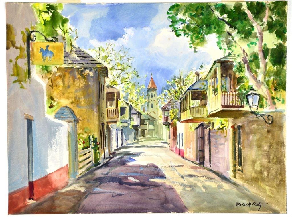 "Vintage Watercolor ""St George Street"" by Emmett Fritz"