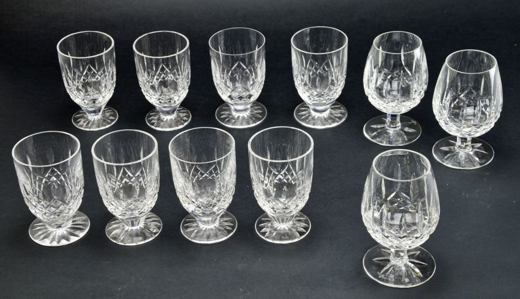 Set of 11 Waterford Cocktail & Double Lismore Glasses