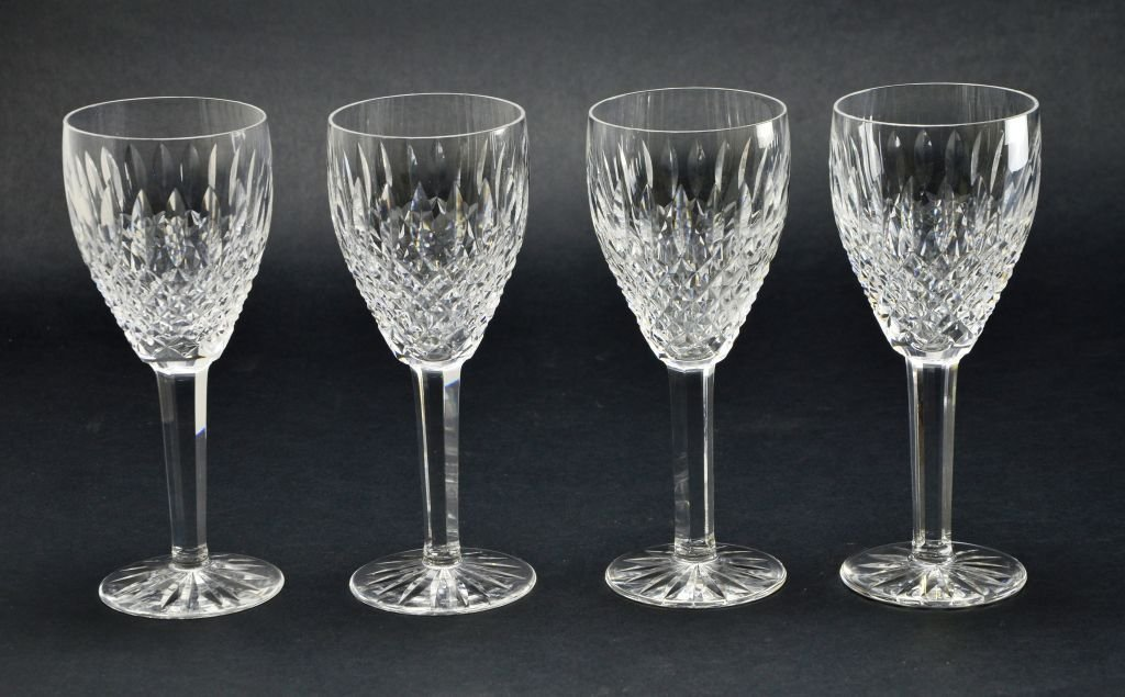 Set of 4 Waterford Stemware Crystal Castlemaine Glasses