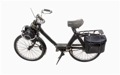 Vintage Solex 3800 Motorbike Scooter w/ Saddlebag