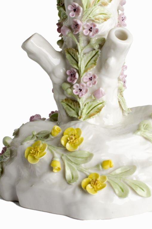 "Fine Porcelain Belleek Ireland ""Bird Stump Vase"" - 6"