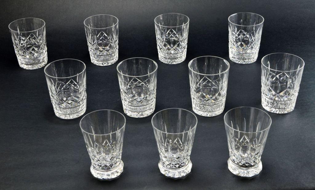 Set of 11 Waterford Crystal Lismore Juice Glasses