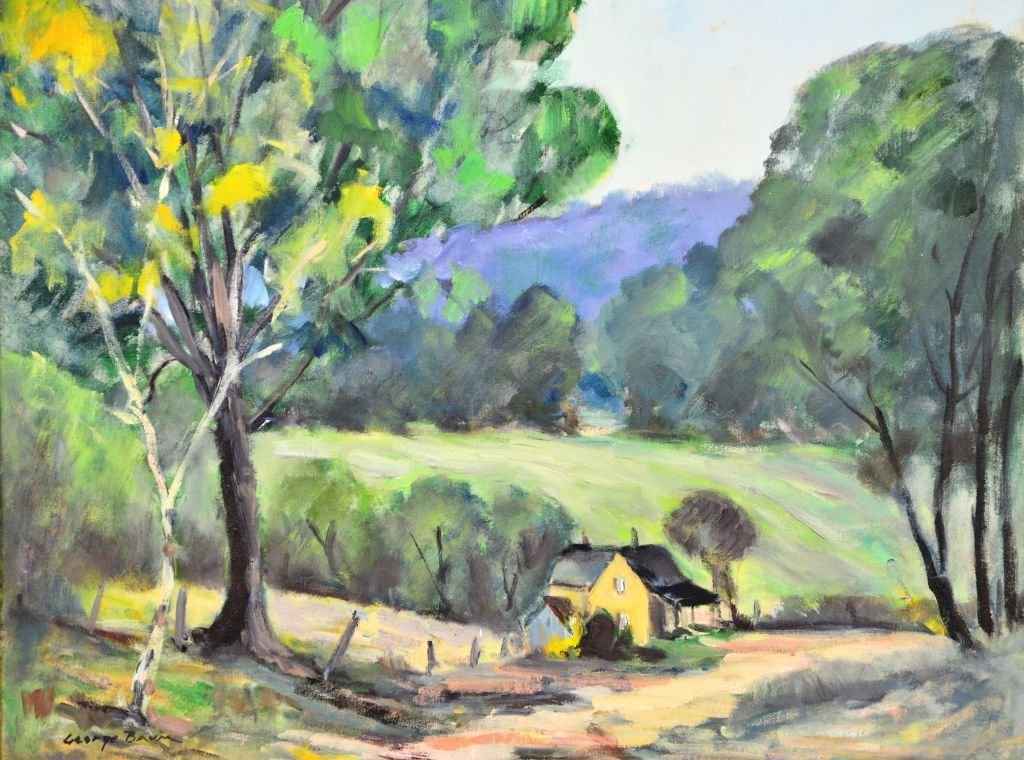 George Baum, Oil on Canvas of Countryside Landscape - 2