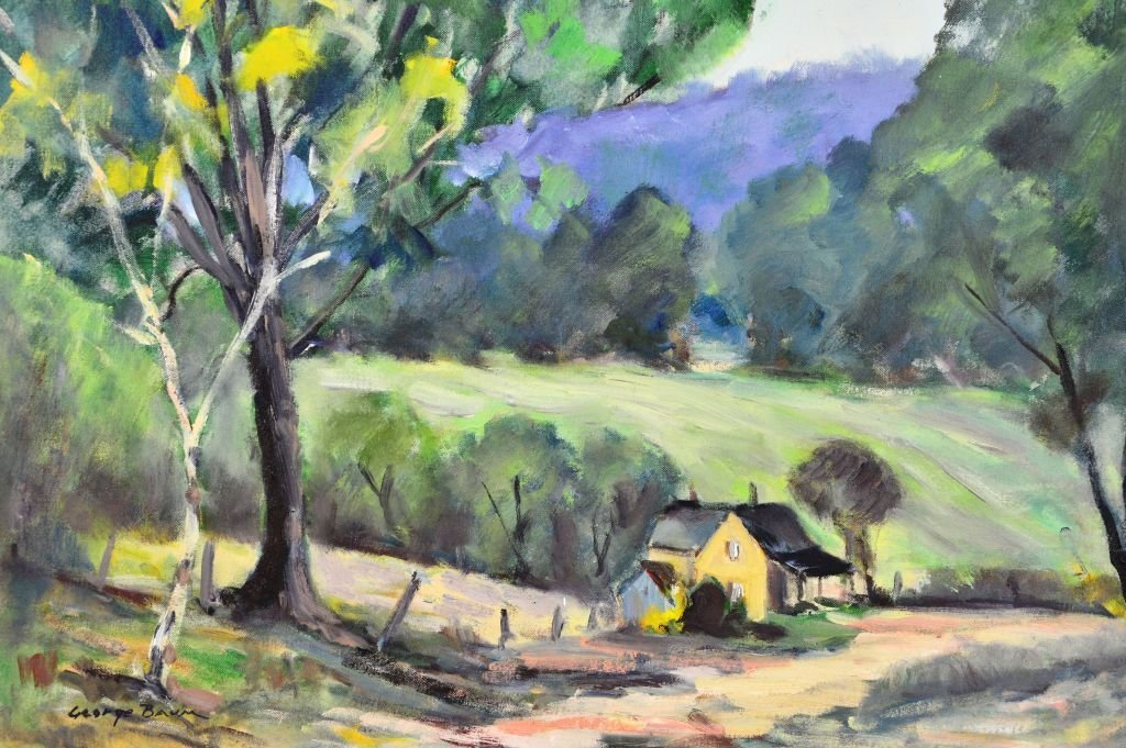 George Baum, Oil on Canvas of Countryside Landscape - 3
