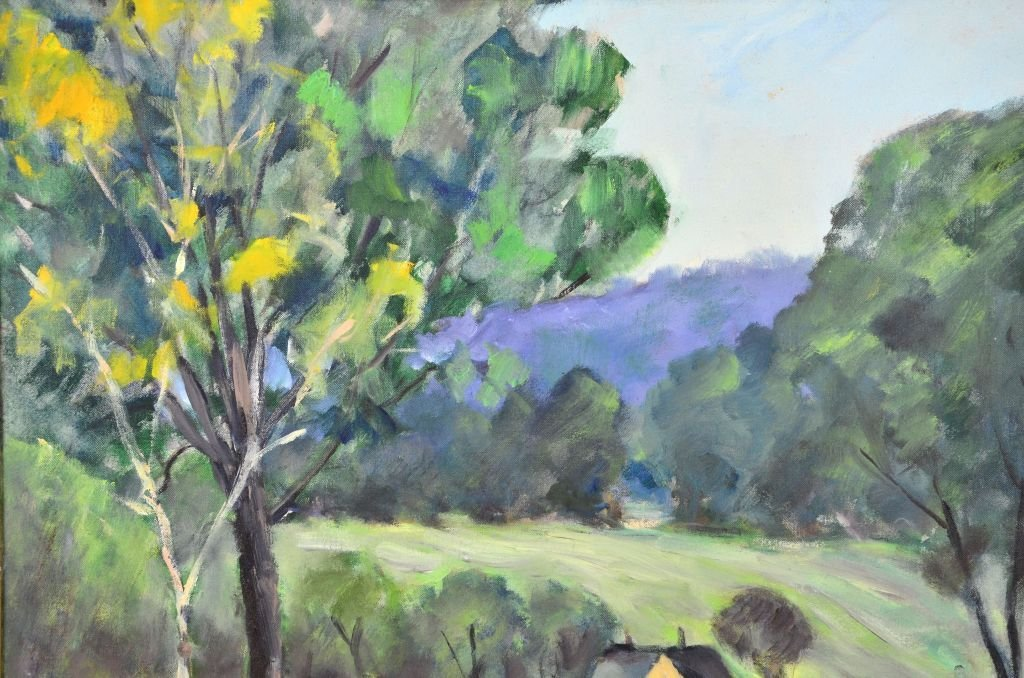 George Baum, Oil on Canvas of Countryside Landscape - 4