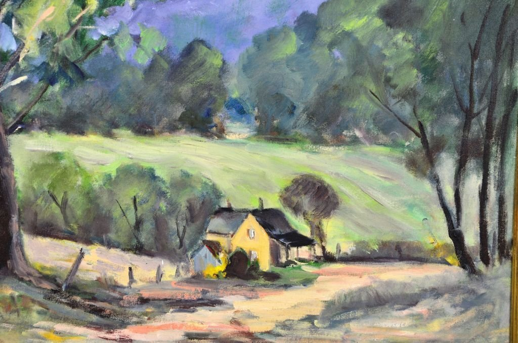 George Baum, Oil on Canvas of Countryside Landscape - 6