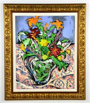 """Floral Oil Painting """"Floral Still Life"""" by LANE"""
