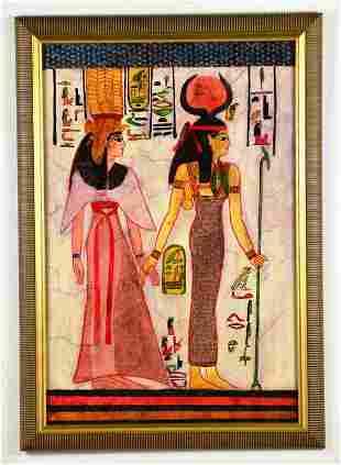 """Egyptian Painting """"Remembering Nefertiti"""" by J. Wolfe"""