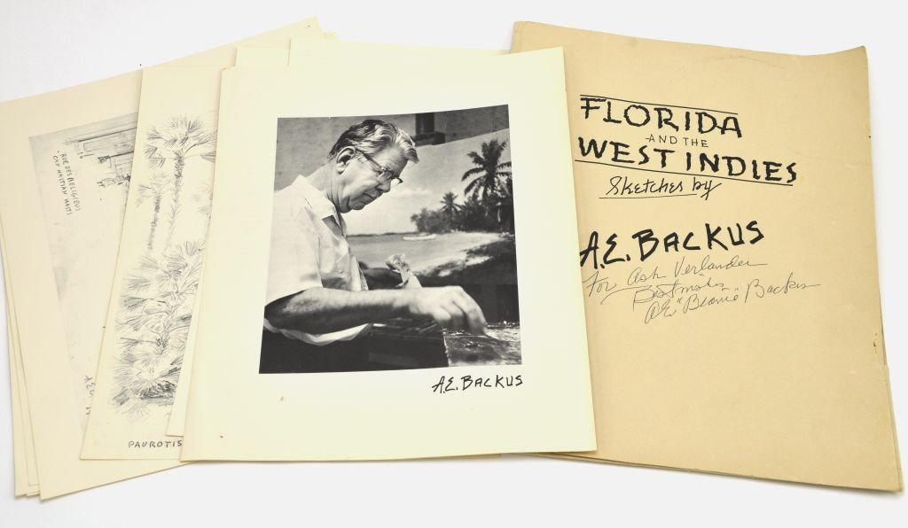 """""""Florida & the West Indies Sketches"""" A.E. Backus"""