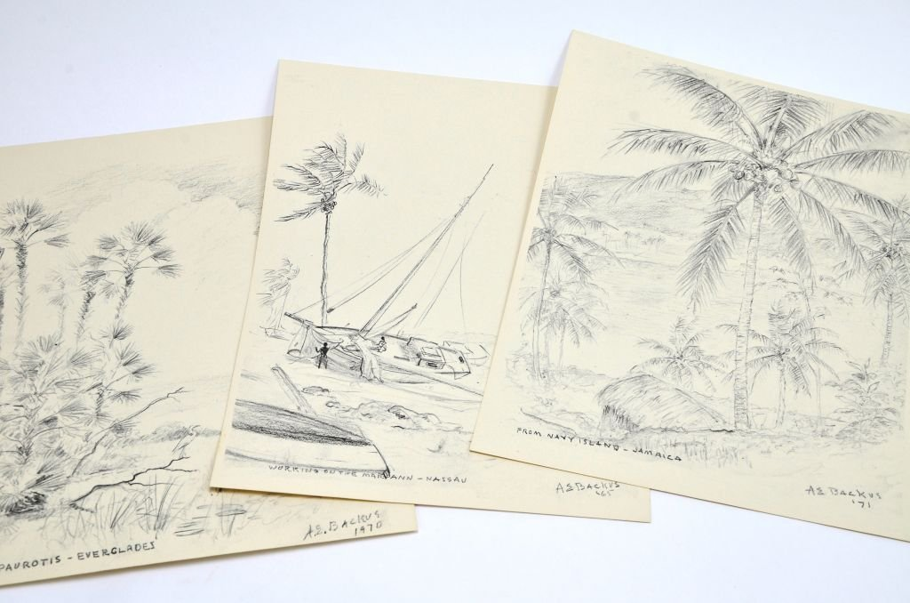 """""""Florida & the West Indies Sketches"""" A.E. Backus - 2"""