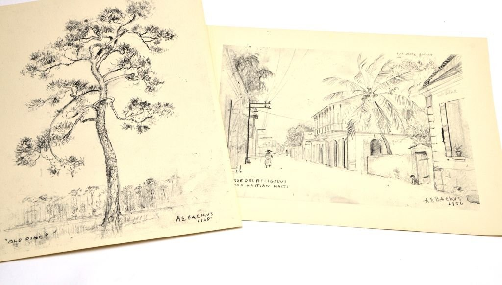 """""""Florida & the West Indies Sketches"""" A.E. Backus - 3"""