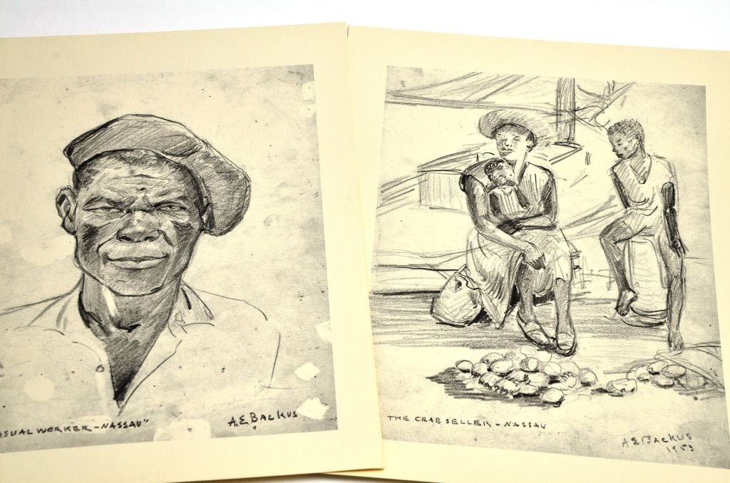 """""""Florida & the West Indies Sketches"""" A.E. Backus - 4"""