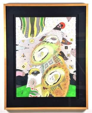 """Folk Art Pastel by William Fields """"The Secret Lord"""""""