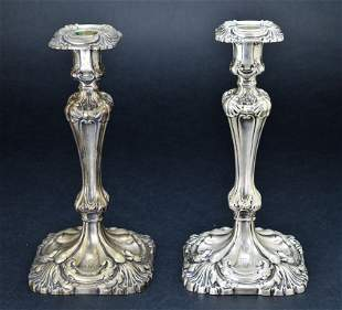 Pair of Vintage Sterling Silver Weighted Candle Holders