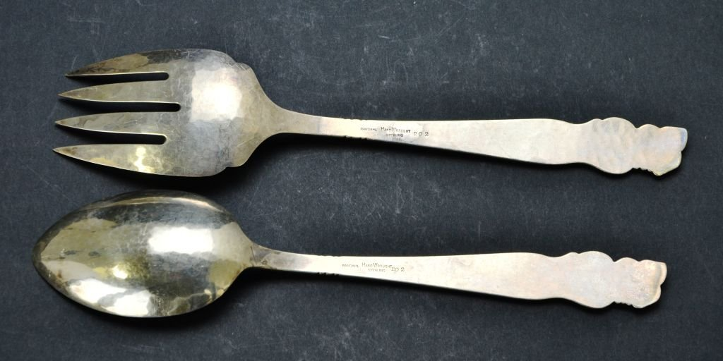 Set of 8 Sterling Utensils, Tiffany & Co., Cartier, Etc - 7