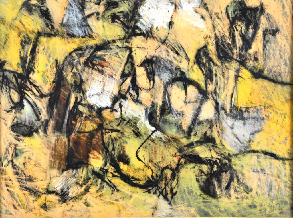 Abstract Encaustic Painting by Harry Nadler - 2