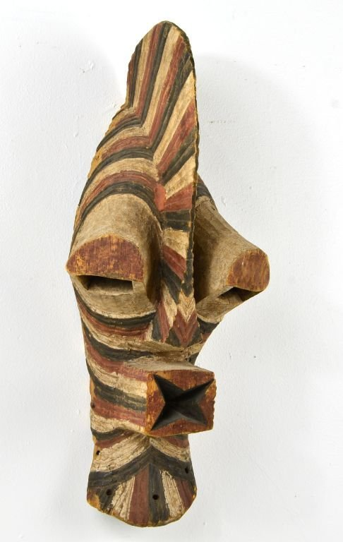 African Songe Kifebwe Carved Wood Mask, Sotheby's 2000