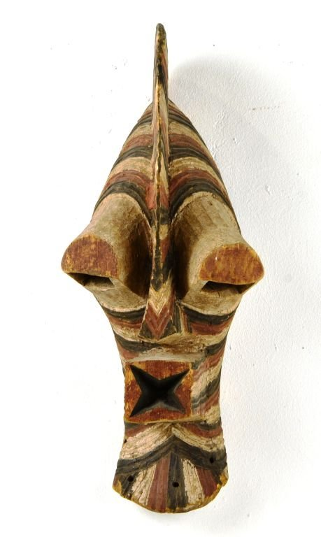 African Songe Kifebwe Carved Wood Mask, Sotheby's 2000 - 2