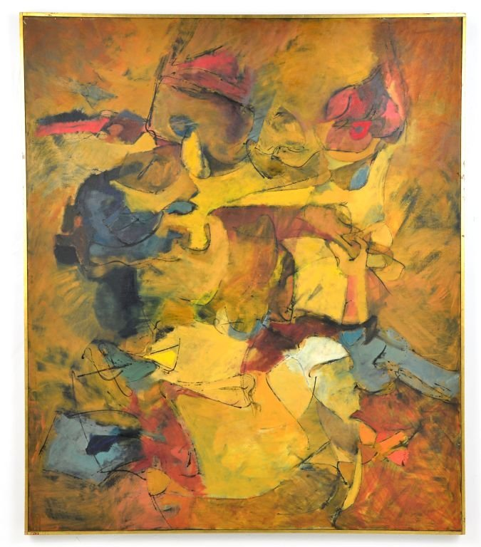"""Oi on Canvas Painting by Harry Nadler, """"GOLDEN I"""""""
