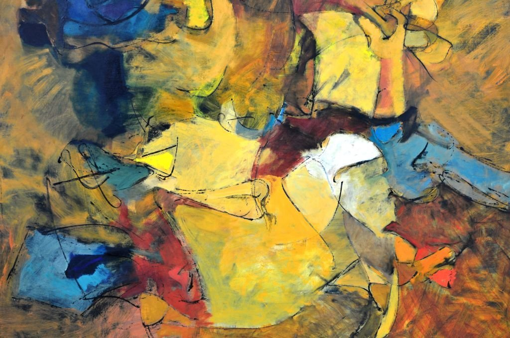 """Oi on Canvas Painting by Harry Nadler, """"GOLDEN I"""" - 3"""