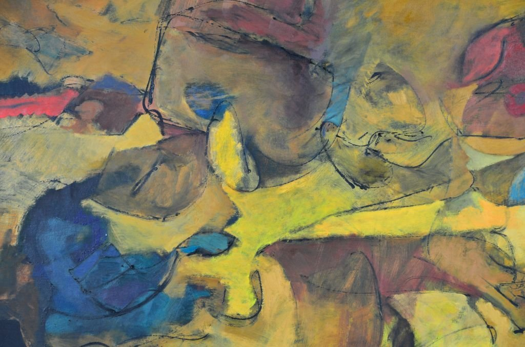 """Oi on Canvas Painting by Harry Nadler, """"GOLDEN I"""" - 6"""