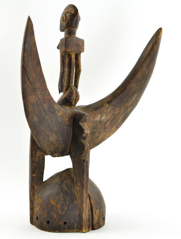 African Senufu Carved Wood Helmet Mask - 10