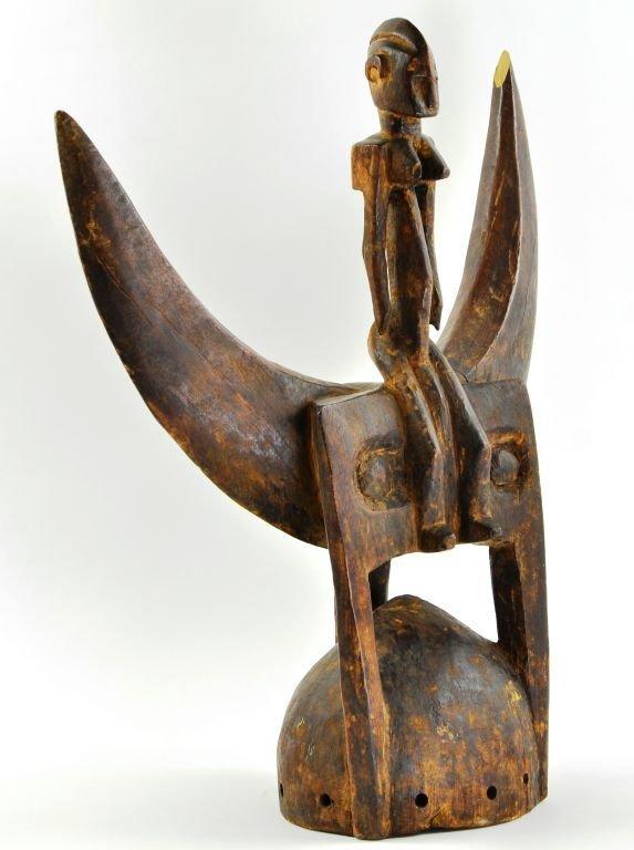 African Senufu Carved Wood Helmet Mask - 2