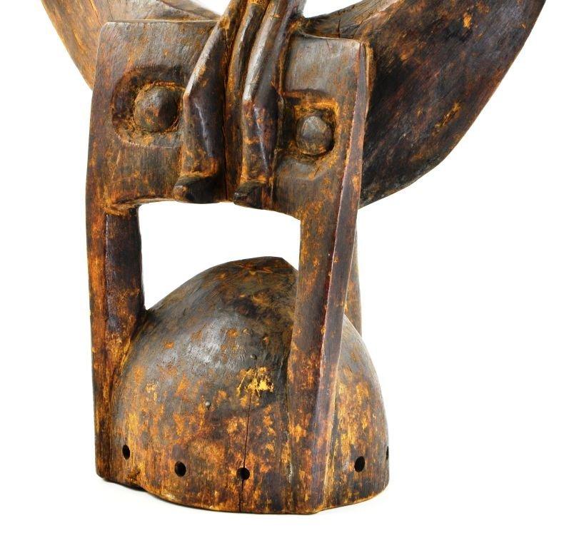 African Senufu Carved Wood Helmet Mask - 4