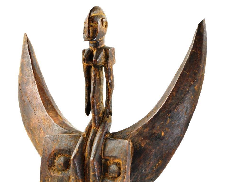 African Senufu Carved Wood Helmet Mask - 5