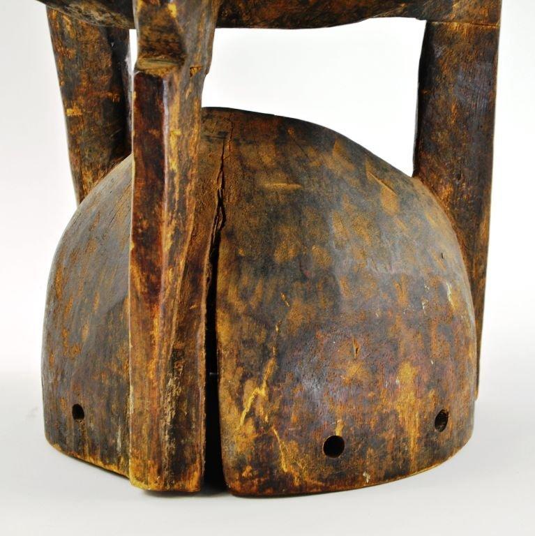 African Senufu Carved Wood Helmet Mask - 7