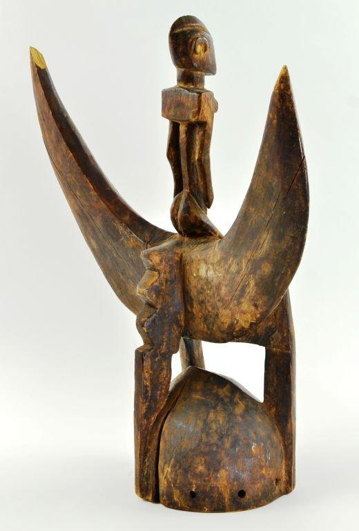 African Senufu Carved Wood Helmet Mask - 9