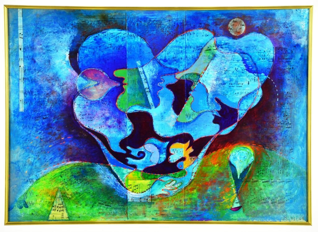 French Musical Abstract Painting by Jean Lancri - 2