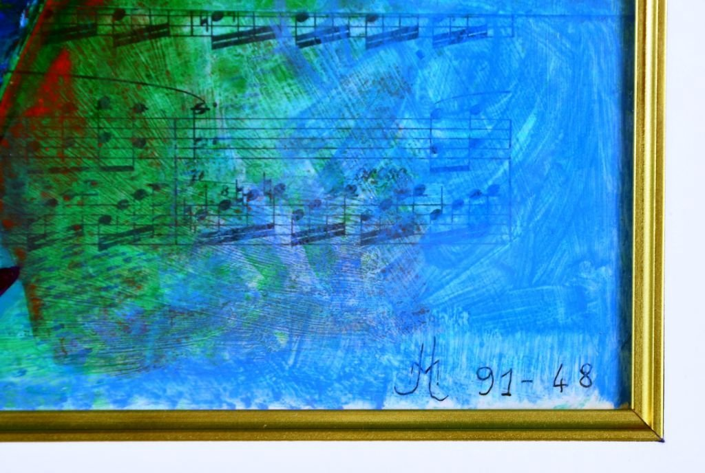 French Musical Abstract Painting by Jean Lancri - 4