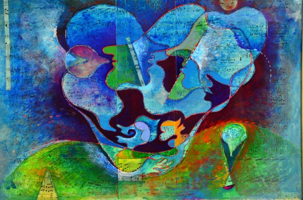 French Musical Abstract Painting by Jean Lancri - 5