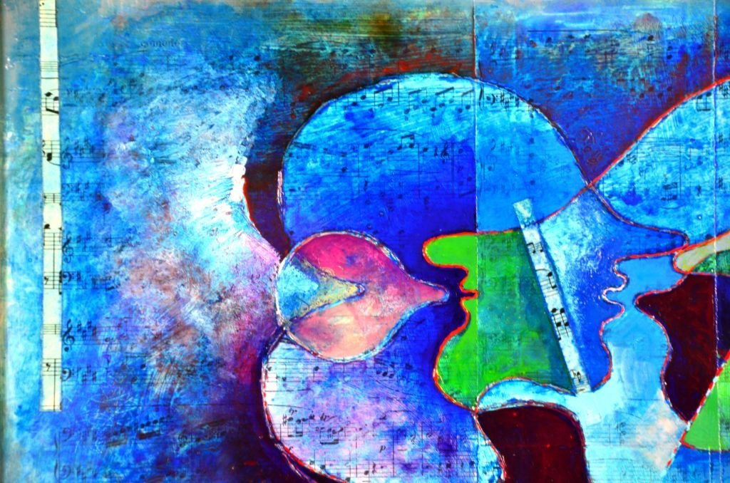 French Musical Abstract Painting by Jean Lancri - 7