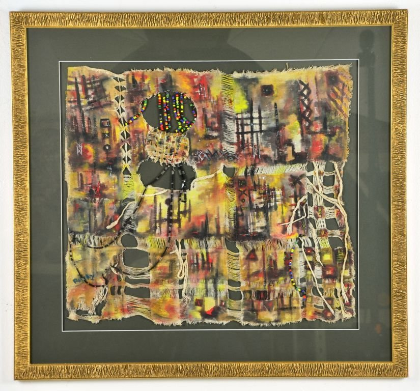 Abstract Cultural Bead & Cloth Painting by Raiky