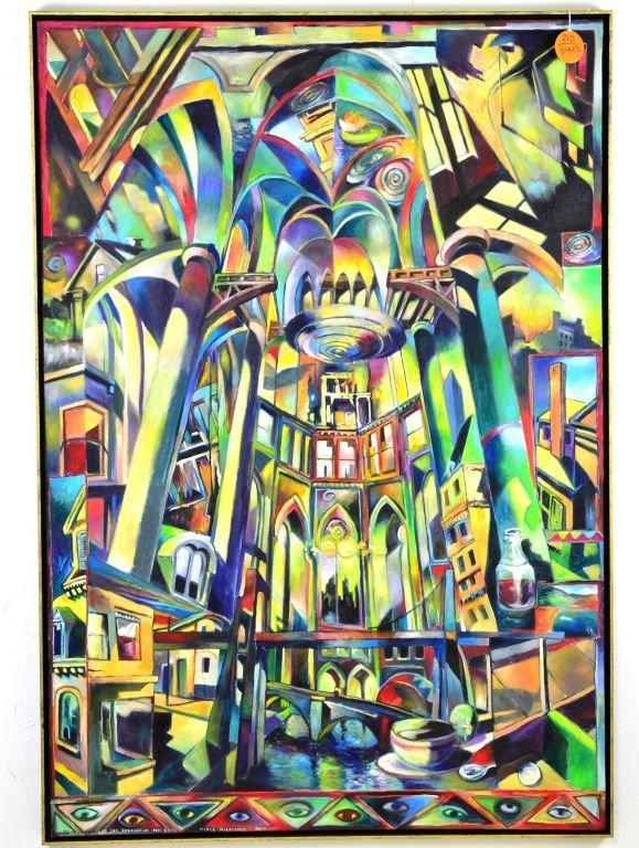 Acrylic & Oil Canvas by Marco Riccioppo