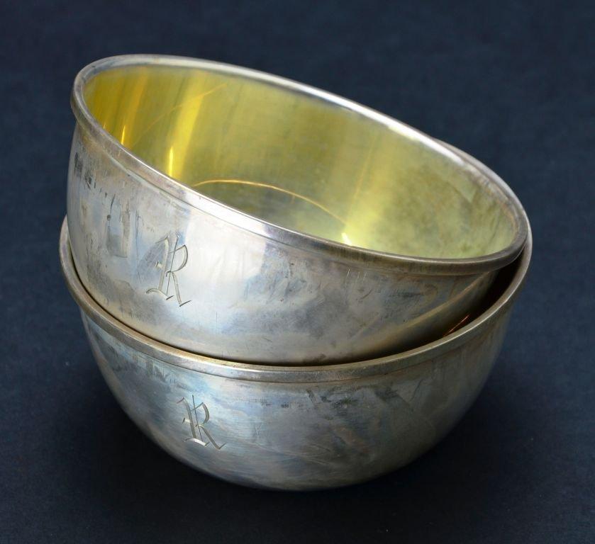 Set of 12 Vintage Sterling Silver Desert / Finger Bowls - 2