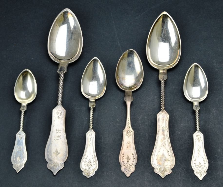 Sterling Silver .800 Collection of Engraved Spoons - 2