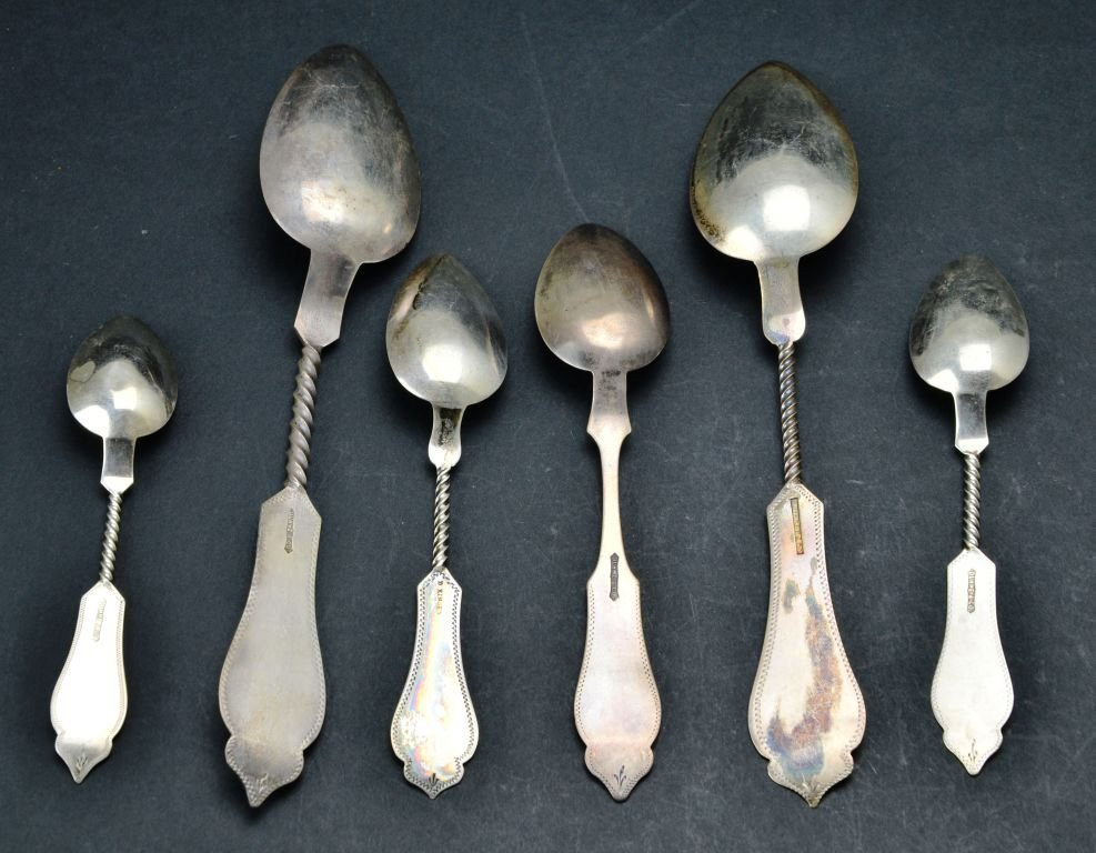 Sterling Silver .800 Collection of Engraved Spoons - 3