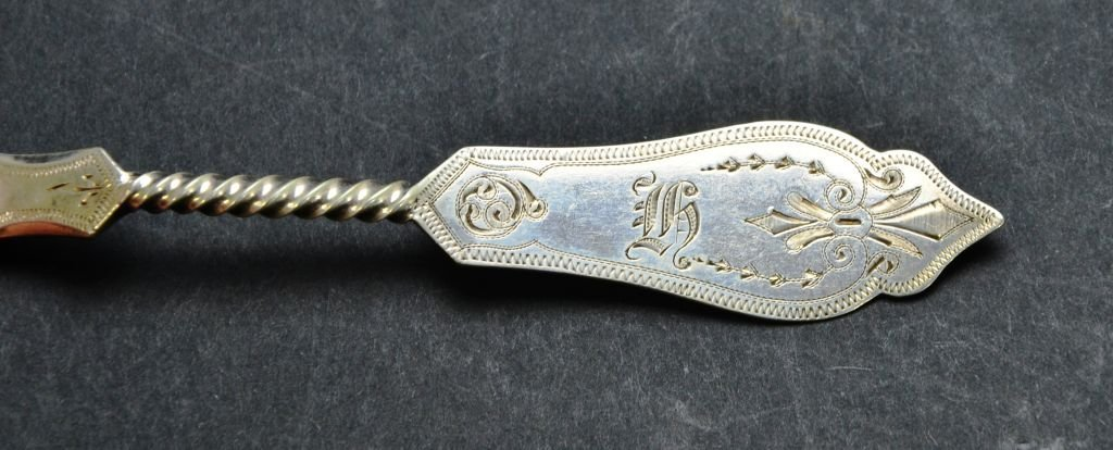 Sterling Silver .800 Collection of Engraved Spoons - 8