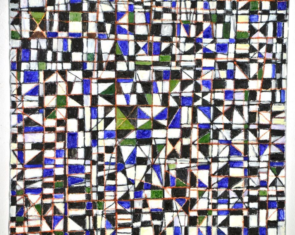"""Geometric Painting """"Pano Da Costa"""" by Goncalo Ivo"""