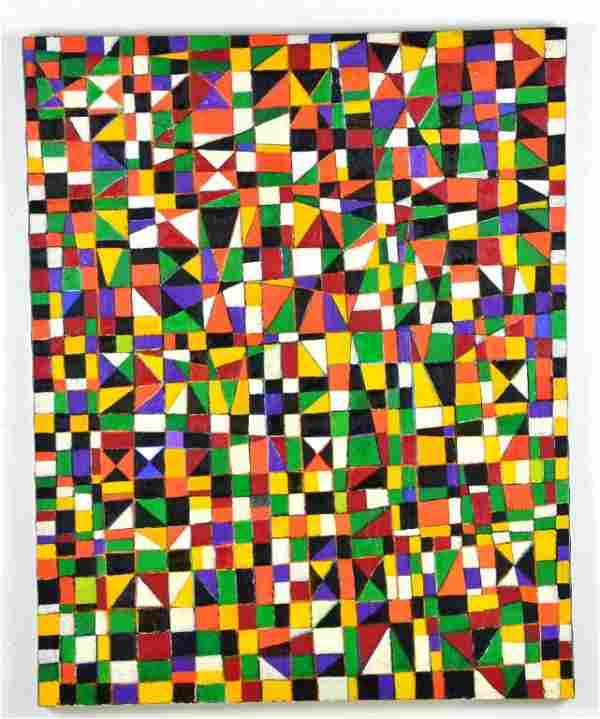 """Geometric Painting """"NDEBELE"""" by Goncalo Ivo"""